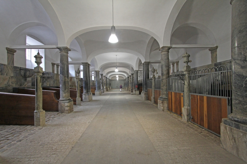 Royal stables at Christianborg in Copenhagen