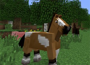Minecraft adds horses to the game i love horses and when horses are