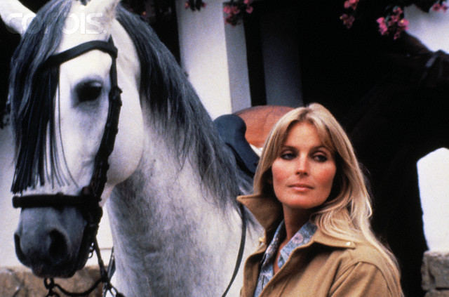 Actress Bo Derek and Horse