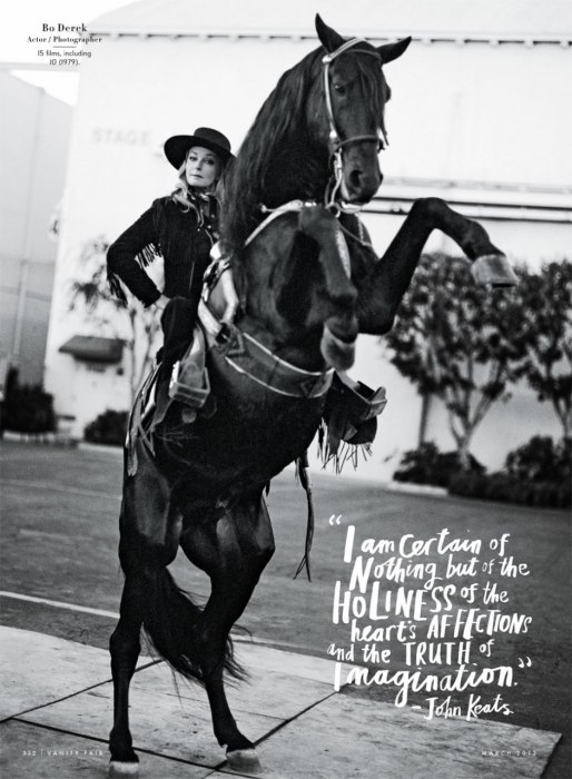bo derek on rearing horse