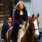 Madonna, singer and horse rider